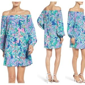 Lilly Pulitzer Exotic Escapade Adira Silk Dress L